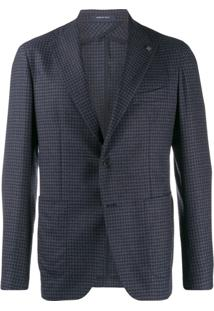 Tagliatore Checked Suit Jacket - Azul