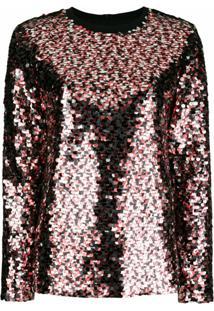 Mcq Swallow Blusa Com Paetês - Vermelho
