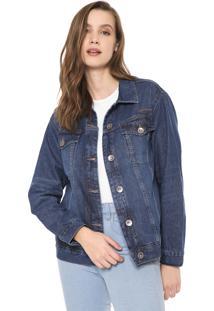 Jaqueta Jeans Colcci Estonada Azul