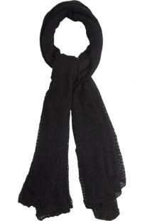 Cachecol Tricot Loose Knit - Preto