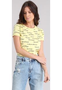 Blusa Estampada Amarela