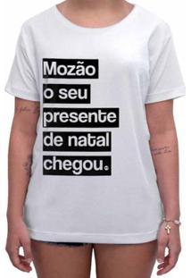 Camiseta Impermanence Estampada Mozão Feminina - Feminino-Branco