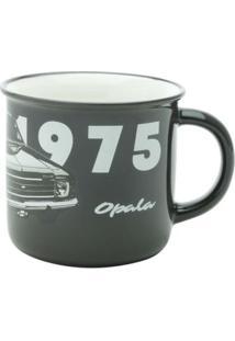 Caneca De Porcelana Antique Gm Opala 1975 Preta 300 Ml