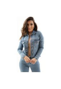 Jaqueta Zaiz Jeans Slim Indigo Claro