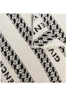 Givenchy Cachecol De Tricã´ Com Padronagem - Branco