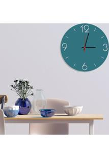 Relógio De Parede Decorativo Premium Números Vazados Ágata Médio