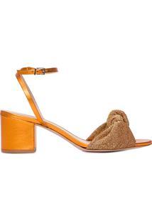 Sandália Feminina Block Heel Glam - Dourado