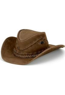 Chapeu Capelli Texano Trançado - Unissex-Marrom