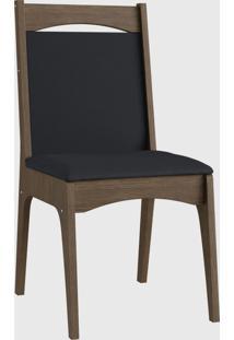 Cadeira Mdf Estofada Com Travessa Par Ameixa Negra Móveis Canção