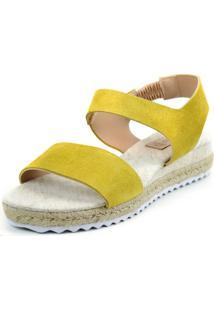 Anabela Flats&Co Camurça Corda Amarelo