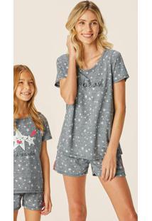 Pijama Mescla Feminino Make A Wish