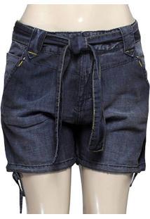 Bermuda Fem Dopping 013112543 Jeans Escuro