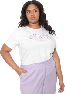 Camiseta Chata De Galocha Para Dafiti Empoderada Branca