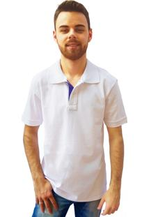 Camisa Polo Manga Curta Villa Rock Branca