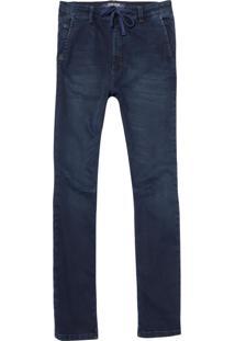 Calça John John Rock Miranda Moletom Jeans Azul Masculina (Jeans Escuro, 48)