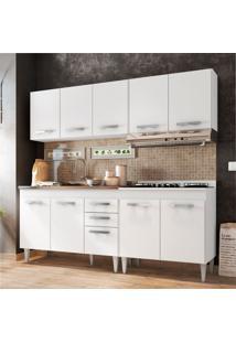 Cozinha Modulada 4 Módulos Composição 5 Branco - Lumil Móveis
