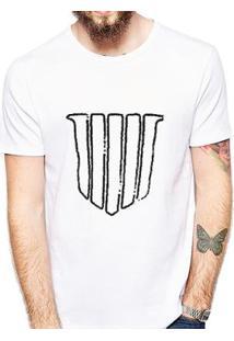 Camiseta Coolest Escudo Masculina - Masculino-Branco
