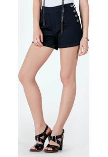 9a0d40cd0f ... Shorts Jeans Cintura Alta Com Botões
