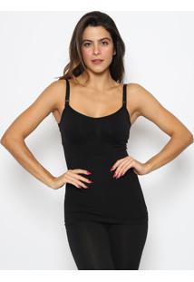 Blusa Para Amamentação Sem Costura- Preta- Zee Ruccizee Rucci