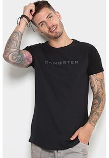 Camiseta Gangster Long Estampada Masculina - Masculino