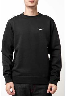 Blusa Nike Sportswear Club Crew Preta