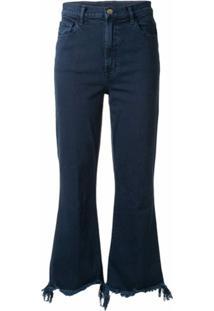 J Brand Calça Jeans Flare Destroyed - Azul