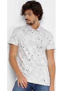 Camisa Polo Coca-Cola Malha Camuflada Respingos Masculina - Masculino