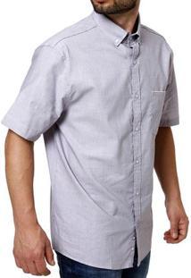 Camisa Manga Curta Masculina Lilás