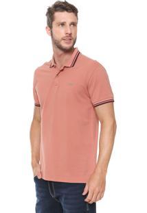 Camisa Polo Colcci Reta Logo Coral