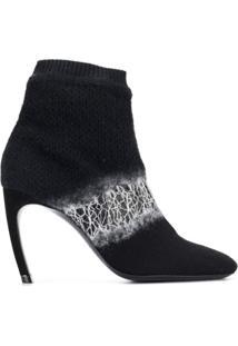 Nicholas Kirkwood Ankle Boot Meia 'Kim' - Preto