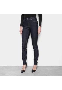 Calça Jeans Skinny Calvin Klein Five Pockets High R Feminina - Feminino-Marinho