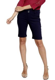 Bermuda Energia Fashion Lisa Azul-Marinho