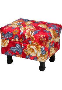 Puff Decorativo Lyam Decor Paris Vermelho Estampado