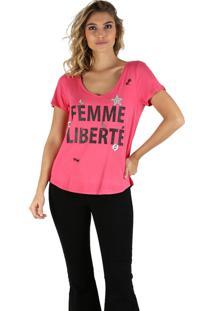 T-Shirt It'S & Co Femme Morango Vermelho