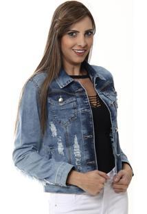 Jaqueta Jeans Sawary - 253410 Azul