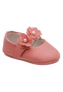 Sapatilha Boneca Little Cute Com Aplique De Flor