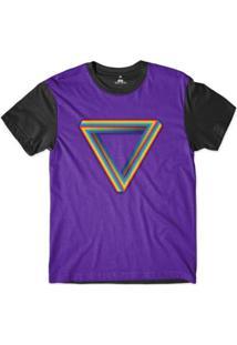 Camiseta Skill Head Orgulho Lgbt Símbolo Sublimada Masculina - Masculino-Roxo