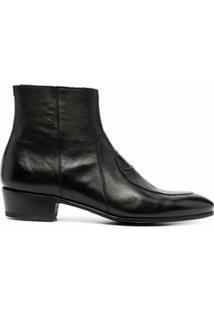 Lidfort Ankle Boot Com Bico Arredondado - Preto