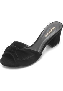 Tamanco Dafiti Shoes Laço Preto