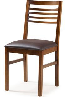 Cadeira La Plata Cor Castanho Estofado Marrom