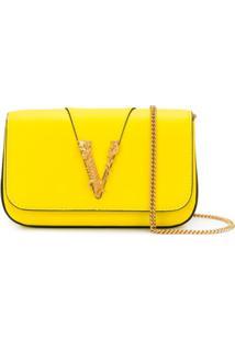 Versace Bolsa Transversal Virtus - Amarelo
