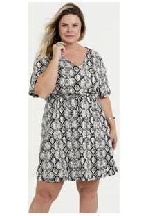 bc99d9b9e R$ 89,95. Marisa Vestido Elastano Viscose Transpassado Estampado Plus Size  ...