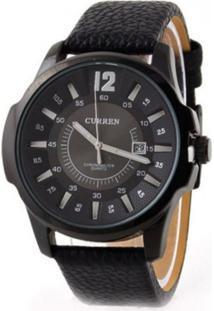 Relógio Curren Analógico Casual 8123 Preto