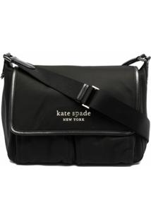 Kate Spade Bolsa Transversal Com Placa De Logo - Preto
