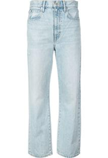 Slvrlake Calça Jeans London Cropped - Azul