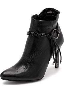 Bota Sandalo Clave De Fa Elis Black Feminina - Feminino