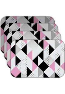 Jogo Americano - Love Decor Triângulos Kit Com 4 Peças