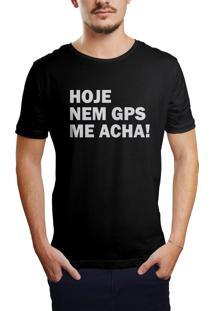 Camiseta Hunter Nem Gps Acha Preta