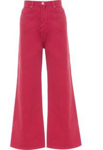 Calça Feminina Reta Color - Vermelho