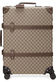 Gucci X Globe-Trotter Medium Gg Suitcase - Marrom